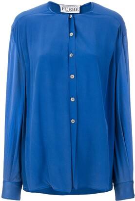 Gianfranco Ferre Pre-Owned collarless shirt