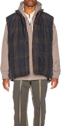 Fear Of God Reversible Oversized Vest in Plaid & Black | FWRD
