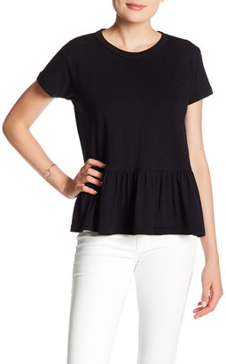 Black Orchid Ruffle Short Sleeve Tee $55 thestylecure.com