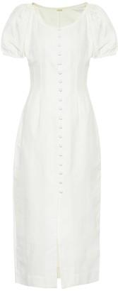 Cult Gaia Charlotte cotton and linen dress