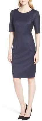 BOSS Duleani Dark Blue Wool Melange Dress