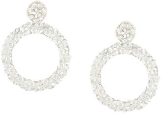 Sachin + Babi flower beaded earrings