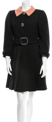 Prada Wool Swing Coat