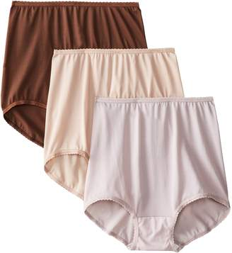 Bali Women's Skimp Skamp Brief Panties (3-Pack), Nude/Moonlight/Lace Print