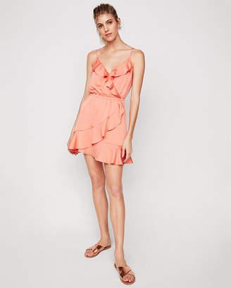 Express Ruffle Wrap Cami Dress