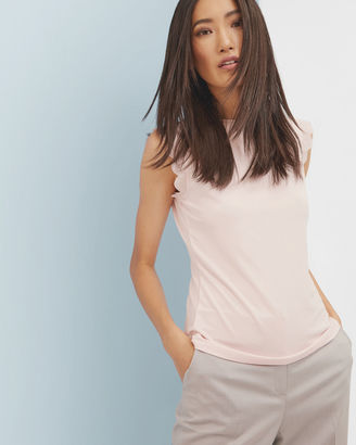 Scallop trim fitted top $65 thestylecure.com