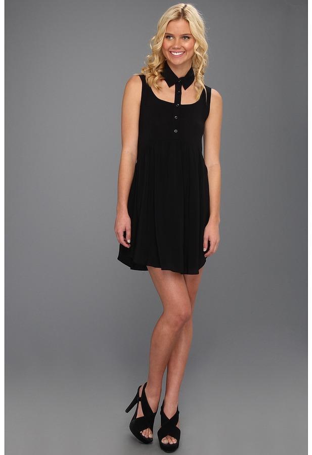 BCBGeneration Separate Collar Dress (Black) - Apparel
