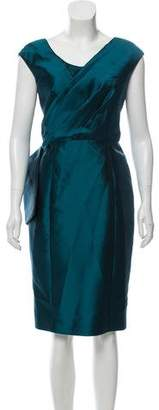 Lela Rose Wool & Silk-Blend Sheath Dress
