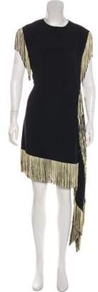 Leroy Veronique Fringe Silk Dress w/ Tags
