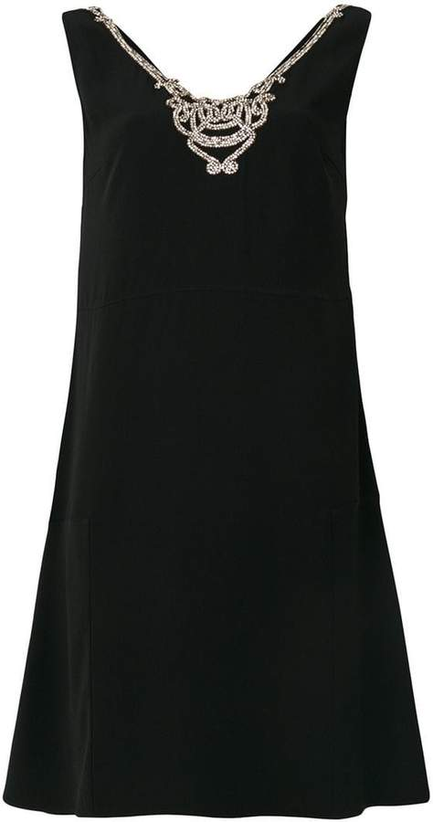 Prada embellished v-neck dress