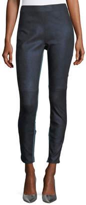 Elie Tahari Roxanna Skinny Denim-Effect Leather Pants
