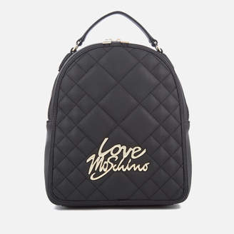 Love Moschino Women's Matt Quilted Backpack - Black