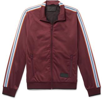 Prada Webbing-Trimmed Tech-Jersey Track Jacket
