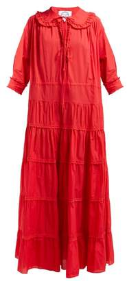 Evi Grintela Maria Cotton Maxi Dress - Womens - Red