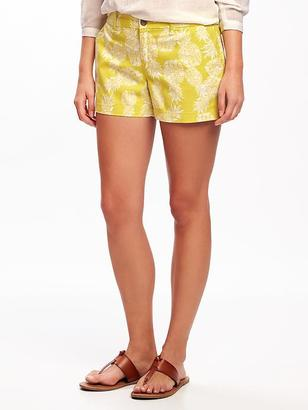 "Mid-Rise Patterned Everyday Shorts for Women (3 1/2"") $22.94 thestylecure.com"