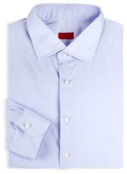 Isaia Classic-Fit Striped Dress Shirt