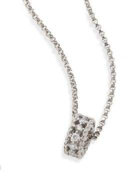 Roberto Coin Symphony Braided Diamond& 18K White Gold Pendant Necklace