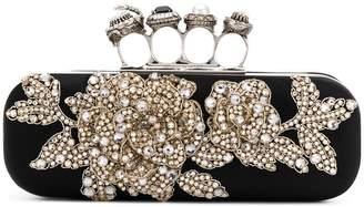 Alexander McQueen embroidered knuckleduster clutch