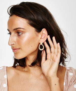 Alice In The Eve Gold Knot Textured Earrings