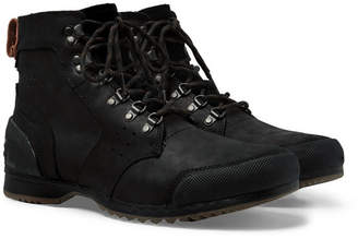 Sorel Ankeny Waterproof Rubber And Suede-Trimmed Leather Boots