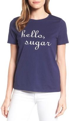 Women's Draper James Hello, Sugar Cotton Tee $38 thestylecure.com