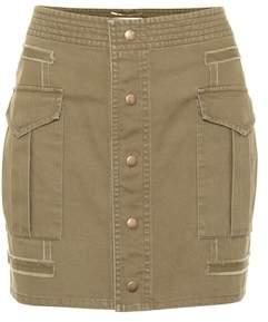 Saint Laurent Cotton gabardine miniskirt