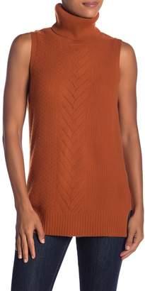Sofia Cashmere Cashmere Cable Mix Sleeveless Sweater