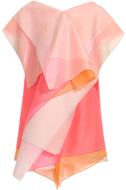 Jil Sander Multi layered organza short dress
