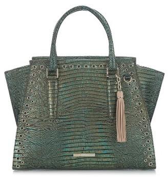 Brahmin Moa Priscilla Leather Satchel - Green $485 thestylecure.com