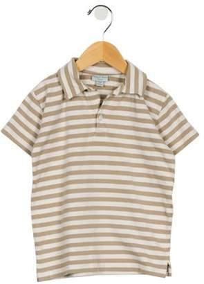 Papo d'Anjo Boys' Striped Polo Shirt tan Boys' Striped Polo Shirt