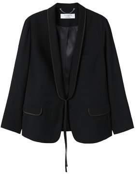 Violeta BY MANGO Satin trim blazer