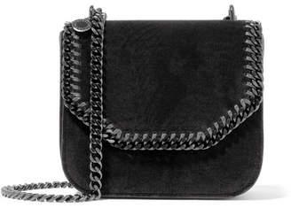 Stella McCartney The Falabella Box Medium Velvet Shoulder Bag - Black