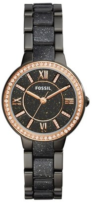 Women's Fossil Virginia Crystal Bracelet Watch, 30Mm $145 thestylecure.com