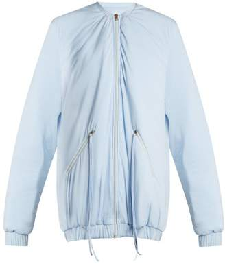 Charli cohen Cohen - Bomber 2s Oversized Jersey Performance Jacket - Womens - Light Blue