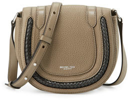 Michael Kors Skorpios Small Crossbody Bag, Dark Taupe $650 thestylecure.com