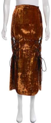 Ellery Velvet Midi Skirt w/ Tags