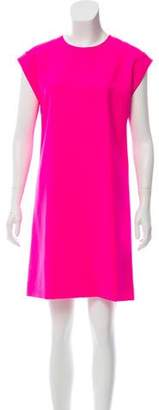 Saint Laurent Virgin Wool Mini Dress