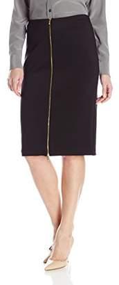Calvin Klein Women's Scuba Skirt with Center Zip