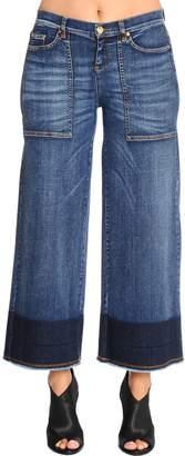 Marina Rinaldi Idioma Wide Leg Cropped Denim Jeans