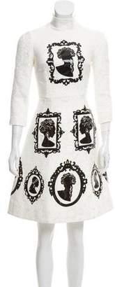 Dolce & Gabbana 2015 Cameo Knee-Length Dress