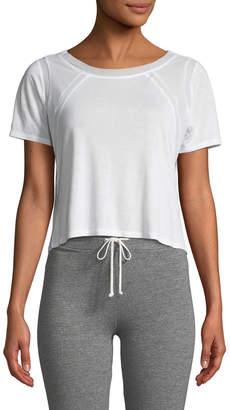Alo Yoga Tone Short-Sleeve Mesh-Panel Top
