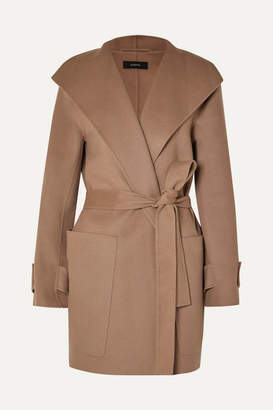 Joseph Lista Belted Wool-blend Coat - Camel