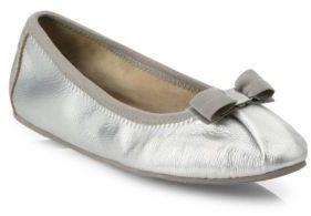 Salvatore Ferragamo My Joy Leather Ballet Flats $350 thestylecure.com