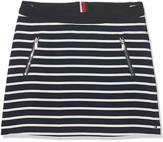 Tommy Hilfiger Girl's AME BI Stripe Skirt,Years (Size: 14)