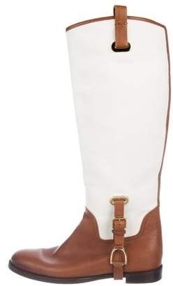 Ralph Lauren Purple Label Stirrup Knee-High Boots