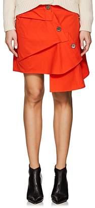 Ji Oh Women's Asymmetric Cotton Poplin Skirt