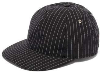 Ami Pinstripe Cotton Baseball Cap - Mens - Black Multi