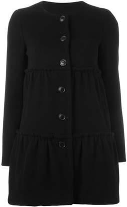 Moschino ruffle panel short coat