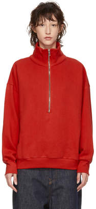 Simon Miller Red Rime Half-Zip Sweater