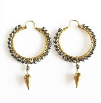 Malia Designs Silver Crystal Hoops